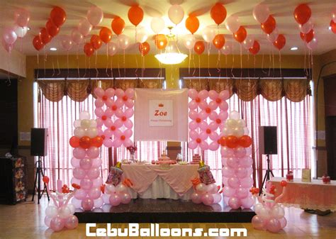 christening balloons and decorations favors ideas