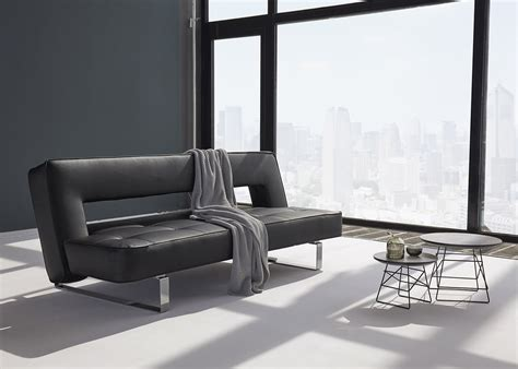 canapé cuir design luxe canapé en simili cuir avec piètement chromé ultra design