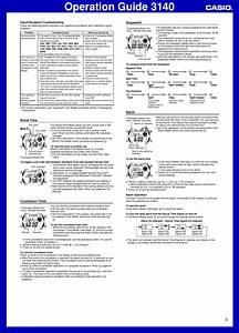 Casio Wave Ceptor Wv200a 1av Wrist Watch Users Manual Qw 3140
