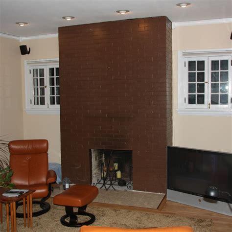 brick fireplace makeover modern fireplace makeover Modern