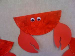 57 Crab Paper Plate Craft, Paper Plate Crab Skip To My Lou ...