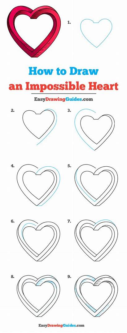 Heart Impossible Draw Drawing Easy Really Drawings