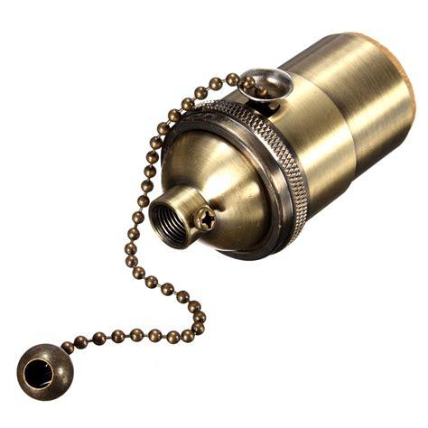light bulb pull chain e27 e26 solid brass light socket holder pull chain vintage