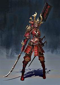 lady red dragon samurai | Rpg in 2019 | Character art ...
