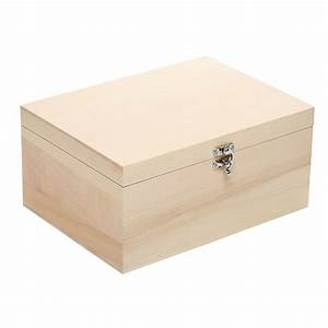 Luxury, Pale, Wood, Deep, Rectangular, Wooden, Box, With, Silver, Clasp, 34cm