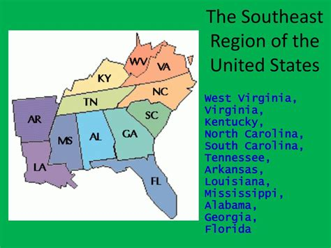 PPT - The Southeast Region of the United States PowerPoint ...