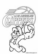 Coloring Clippers Angeles Los Again Bar Looking Case Don sketch template