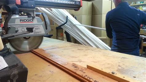 How To Cut Single Pvc Pipe On A Radial Arm Saw  Kitty Cot