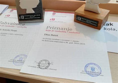 Oskar znanja Dini Bašek državnoj prvakinji iz Njemačkoga ...