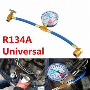 1pcs Car Air Conditioning Ac R134a Refrigerant Recharge Measuring Hose Gauge Kit 4808381695688