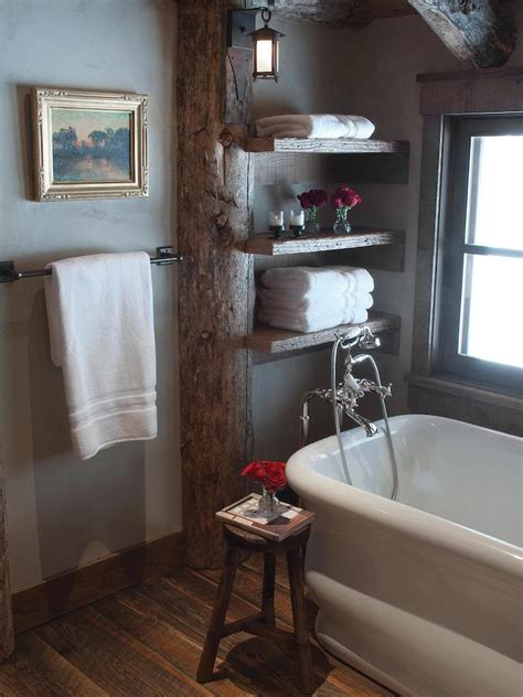 amazing bathroom  exposed wood beams interior god