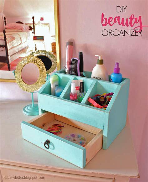 ana white desktop office  vanity beauty organizer