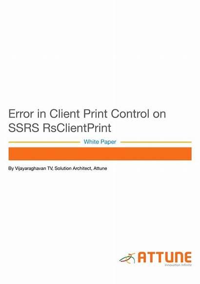 Ssrs Error Client Control Paper Rs Slideshare