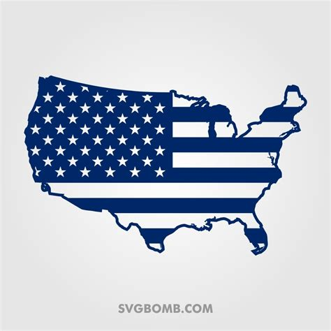 Great for cricut design space, silhouette cameo, clipart, scrapbooking and other crafting projects. Free US Flag Map Cut File SVG | SVGBOMB