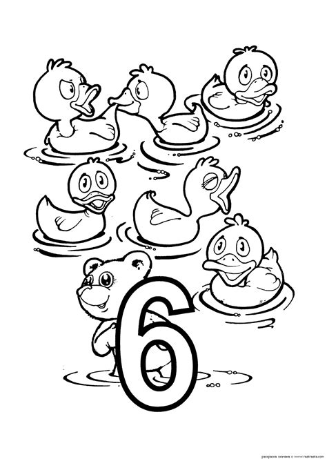numbers coloring pages  kids printable