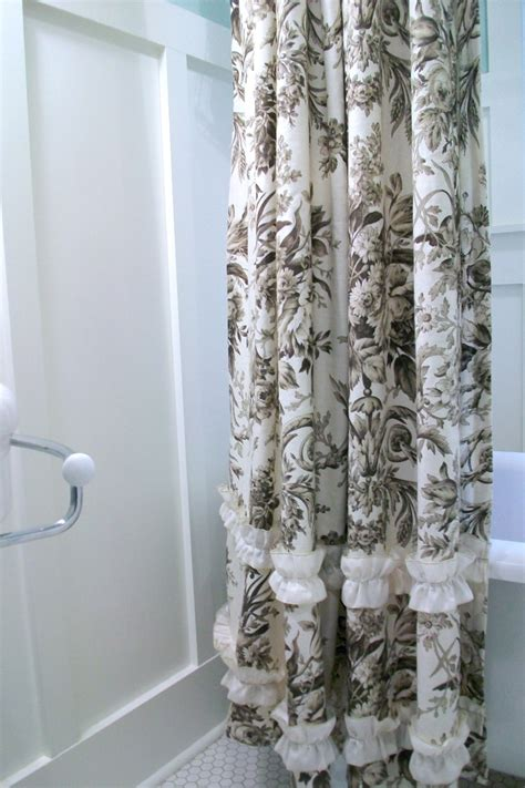 blue and brown curtains blue and brown toile shower curtain shower curtain