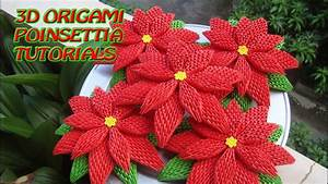 How To Make 3d Origami Poinsettia