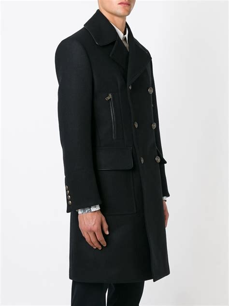lyst dolce gabbana brass button double breasted coat
