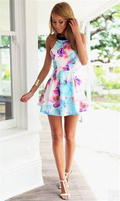 Dresses Floral Trendy Summer Halter Mini Season