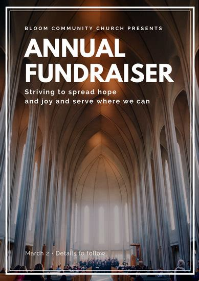 customize  fundraising poster templates  canva