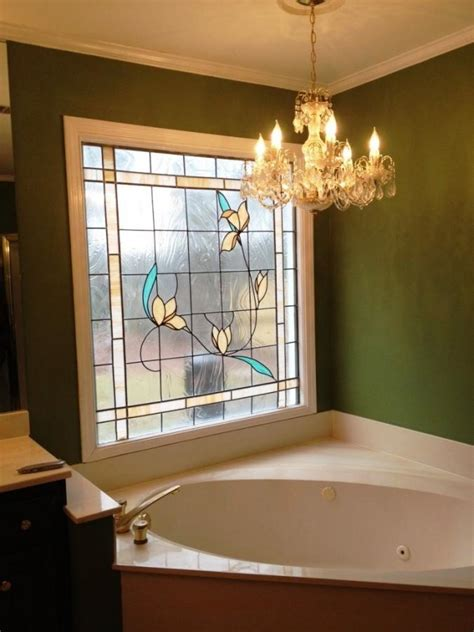 beautiful bathrooms  stained glass windows rilane