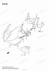 Suzuki Motorcycle 2009 Oem Parts Diagram For Body Cwl Installation Parts  With Cowling