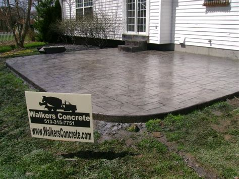 estimated cost of cement patio 28 images sted concrete