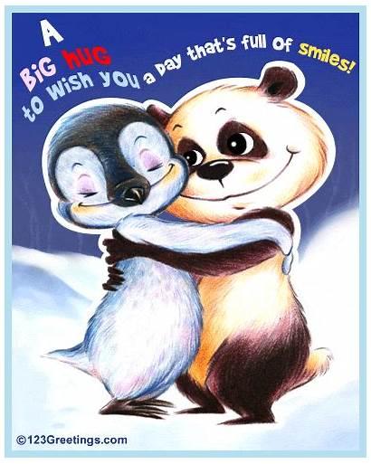 Hug Send Hugs Friend Virtual Card Smiles