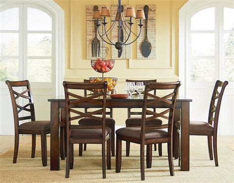 kitchen dining furniture casual transitional 7 dining set by standard