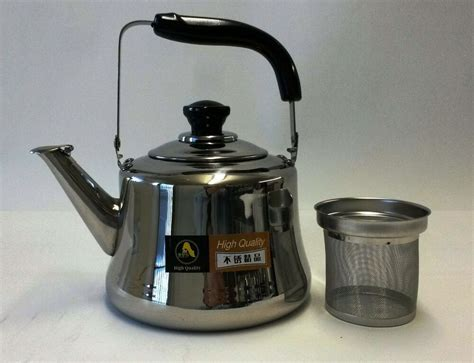 Stainless Steel Tea Kettle Pot With Infuser Filter