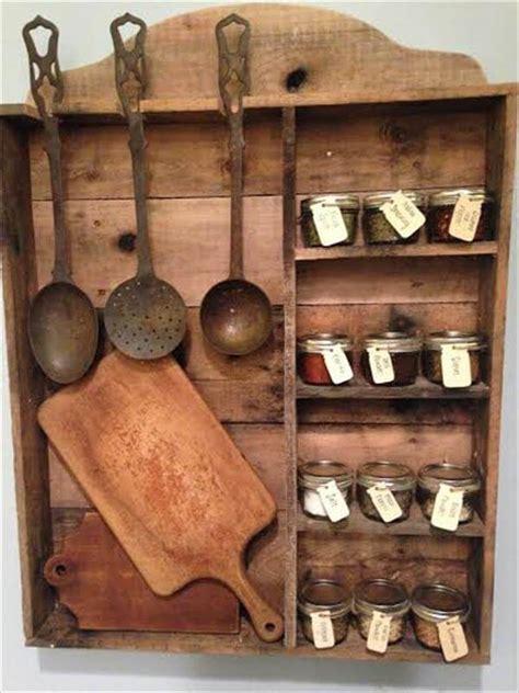 how to make spice racks for kitchen cabinets vintage inspired pallet kitchen spice rack 101 pallets 9797