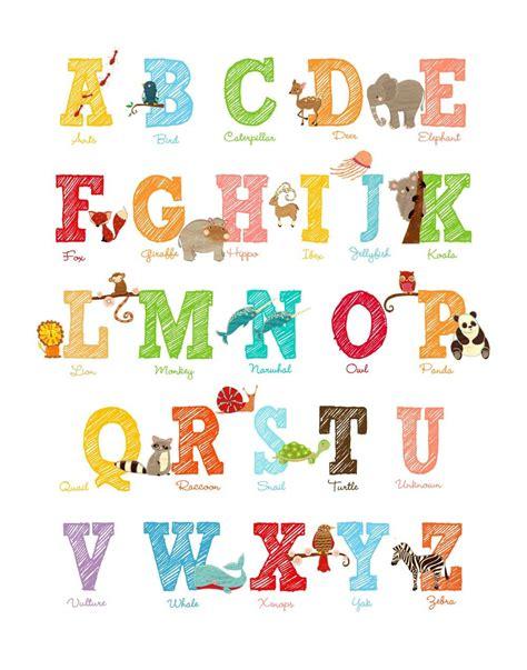 alphabet print    print