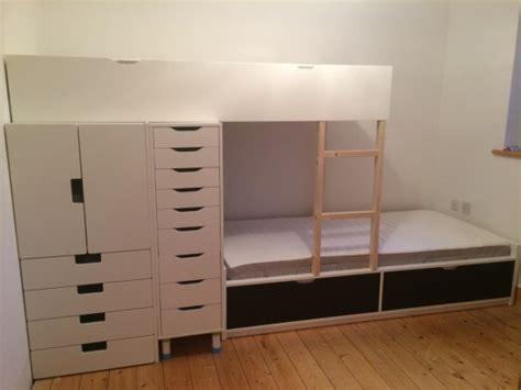 flaxa bunk bed with lots of storage ikea hackers ikea