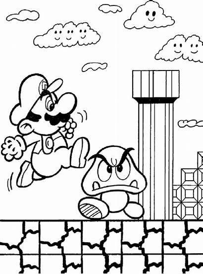 Mario Pages Coloring Characters Super Colouring Bros