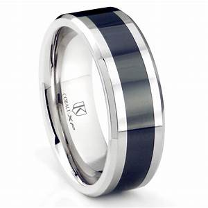cobalt xf chrome 8mm two tone beveled polished wedding With cobalt wedding ring