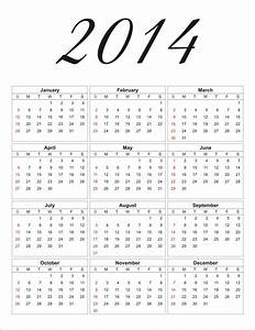 search results for free printable 2014 calendar with With full year calendar template 2014