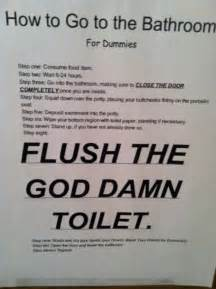 Please Flush Toilet Signs Funny
