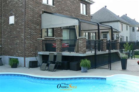 pin  auvents ombrasole awnings  fixed retractable awning auvent fixe retractable house
