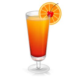 cocktail tequila sunrise icon drinks iconset miniartx