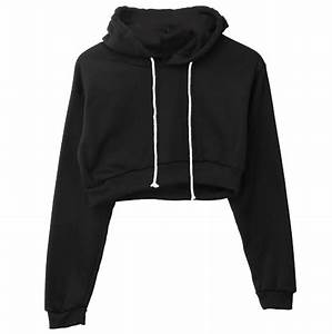 Women Ladies Clothing Tops Plain Crop Top Hooded full Hoodie Coats New Brief Casual Clothes ...
