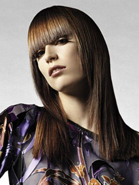 long hairstyle  finely tapered sides  bangs cut