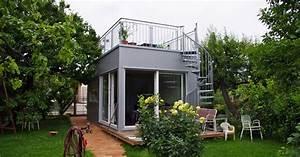 Haus Mit Dachterrasse : mini haus mikrohaus mit 28 quadratmeter plus freisitz das haus ~ Frokenaadalensverden.com Haus und Dekorationen