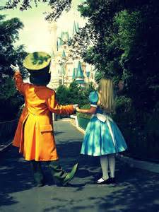 Disneyland Mad Hatter and Alice