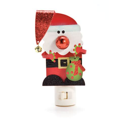 funky santa nightlight happy holidayware