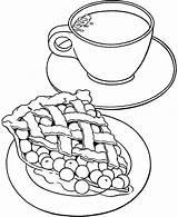 Coloring Tea Teapot Pie Printable Cup Cherry Milk Teddy Bear Cups Sheets Getcolorings Apple Coffee sketch template