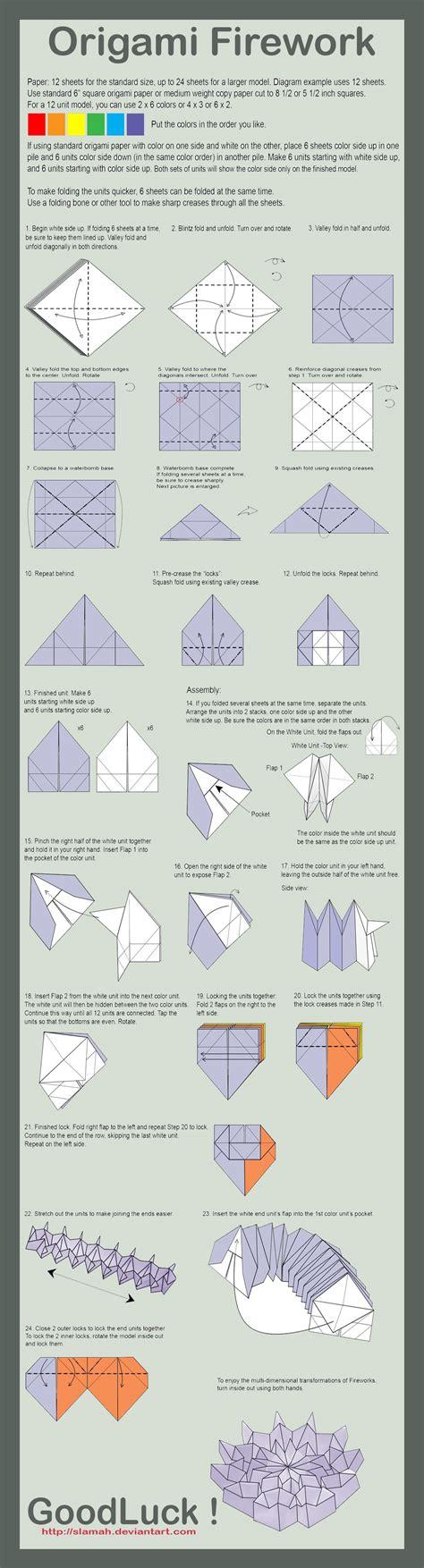 Origami Firework Folding Instructions