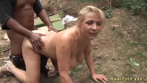 Real Porn Busty Mature German Blonde Loves Interracial