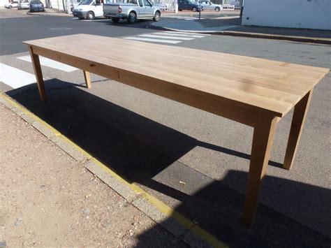 tables de ferme en bois massif table de ferme en ch 234 ne massif de 3 m incolore robin sicle