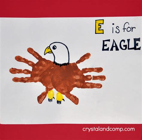 print e is for eagle 565 | E is for Eagle Hand Print Art
