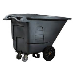 shop toter 100 gallon textured industrial gray plastic wheeled trash can at lowes